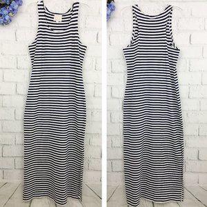 Sail to Sable Navy White Stripe Maxi Tank Dress